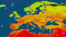 Οι θερμοκρασίες στην Ευρώπη